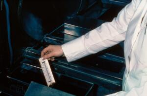 view Checking darkroom chemicals, x-rays