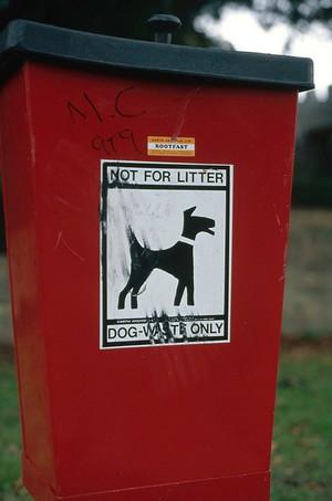 view Canine sanitation, dog litter bin