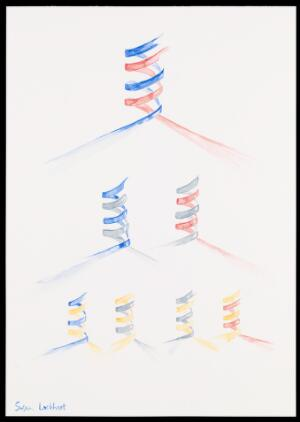 view Illustration depicting semi-conservative DNA replication. Three generations of DNA are shown. After separation of the DNA double helix, two new complementary DNA strands are synthesised (indicated by a new colour). Complementary base pairing and hydrogen bonding results in formation of a new double helix.
