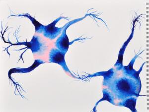 view Neurones connecting, artwork