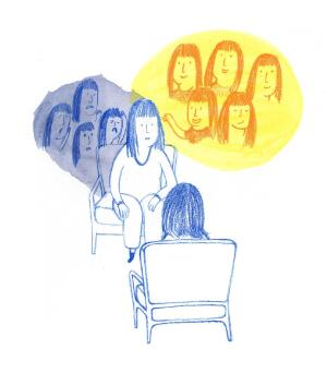 view Counselling for social anxiety disorder, illustration