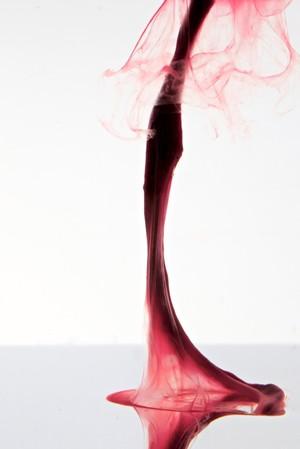 "view Menstrual blood, artwork title ""Red Dress 2"""