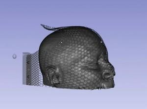 view Proton CT of a human head