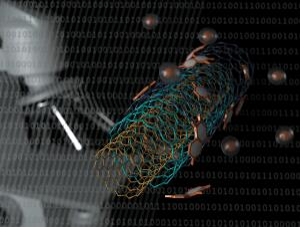 view Boron nitride nanotubes (BNNTs), artwork