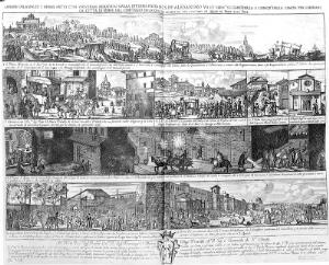 view Etching of plague in Rome.