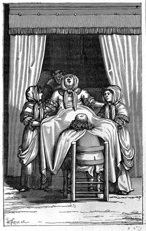 view Birth scene, Hollland, 17thC.