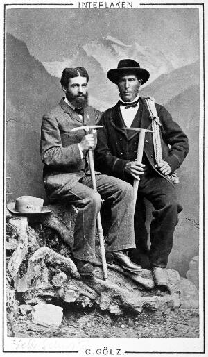 view portrait of Felix Schuster with guide at Interlaken