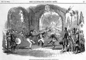 view The twelth night entertainment in Hanwell Lunatic Asylum.
