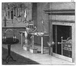 view Joseph Priestley's Chemical apparatus. 18th C