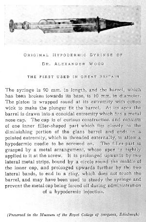 view Hypodermic syringe, 1853