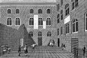 view Newgate Prison, Inner Court, 18th century.