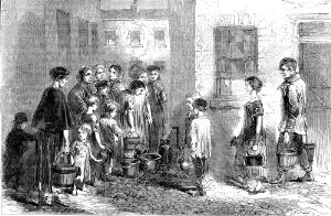 view Dwellings of the poor in Bethnal Green, water supply 1863