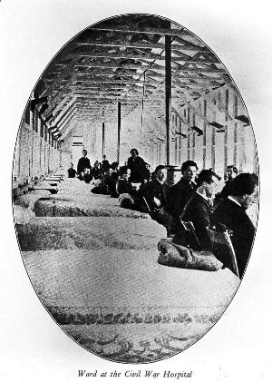 view Philadelphia. Turner's Lane Military Hospital. Scene in one of the wards for Mental Patients. Civil War Hospital.