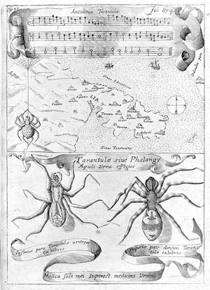 view Tarantism, 16th century.
