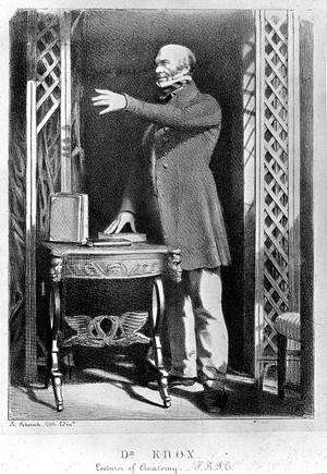 view Robert Knox. Lithograph.