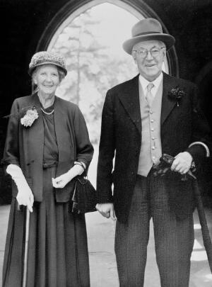 view Portrait of Lady and Sir Henry Dale at a wedding