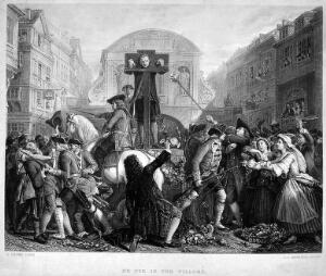 view 'Defoe in the Pillory'