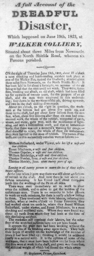 view Mining: A full acount of the dreadful disaster...1823