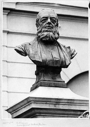view Portrait bust of Dr James Henry Bennet (1816-1891) from a photograph by A. Chenier, Quai General Leclere, Menton