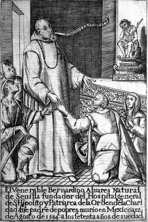 view Portrait of Bernardino Alvarez, the