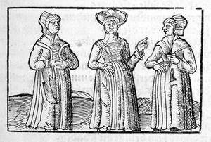 view Three pregnant women.
