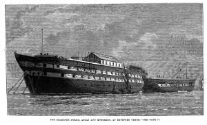 view Ships used as smallpox isolation hospitals.