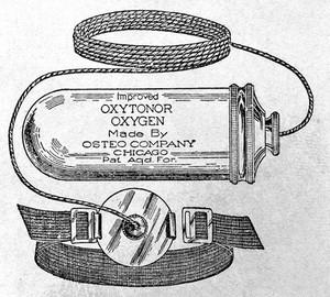 view Quackery: 20th. century: 'Improved oxytonor oxygen'