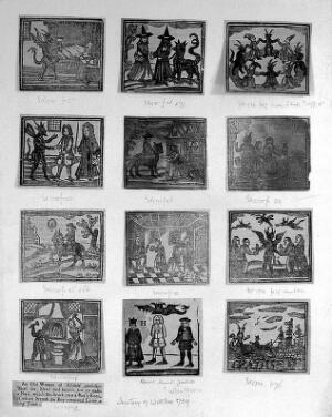 view Woodcuts from a history of witches, 1739.