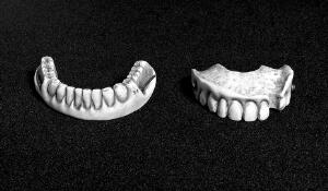 view Carved ivory upper and lower denture