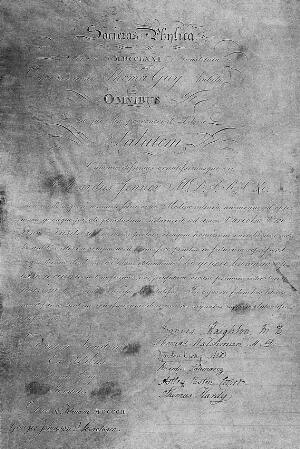 view Edward Jenner: Diploma of the Physical Society, Guy's Hospital.