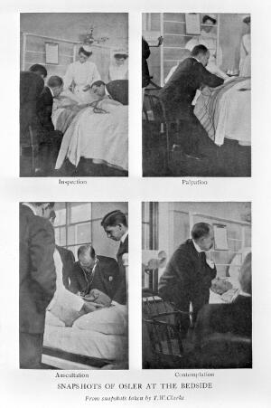 view William Osler at bedside of patients.