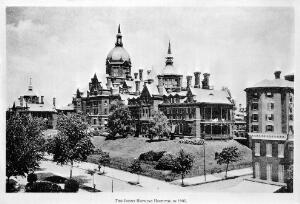 view The Johns Hopkins Hospital in 1905