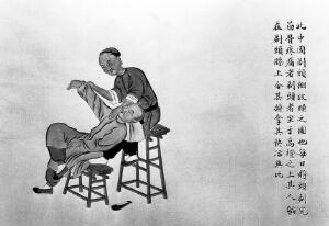 view Chinese watercolour: massage for shoulder pain
