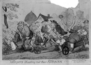 view Villagers shooting out their rubbish!!!, by Cruikshank