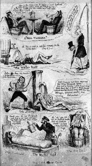 view Caricatures: 'The cold water cure', by Cruickshank, c. 1830