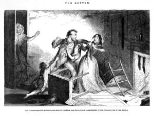 view The bottle, by George Cruikshank; 'Fearful quarrels, and brutal violence'