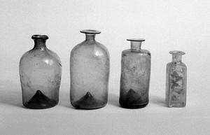 view Medicine bottles, 18th century.