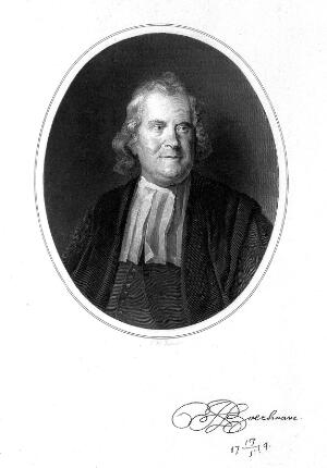 view Portrait of Hermann Boerhaave after a painting by C. Troost, circa 1735.