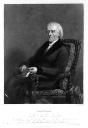 view Samuel Christian Friedrich Hahnemann. Mezzotint by R. Woodman after G. E. Hering.