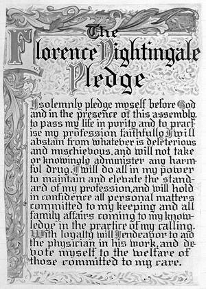 view Pledge of Florence Nightingale.