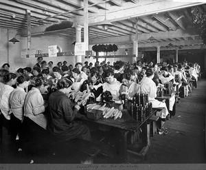 view World War One: women working in a factory
