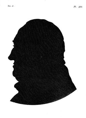 view Silhouette of Albrecht von Haller