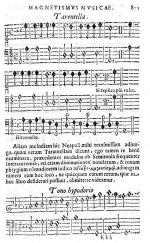 view Tarantism, 16th century music, Athanaius Kirchir.