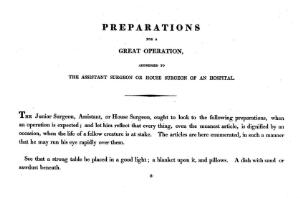 """view page 1 """"Illustrations of the Great Operations of Surgery"""", 1820"""