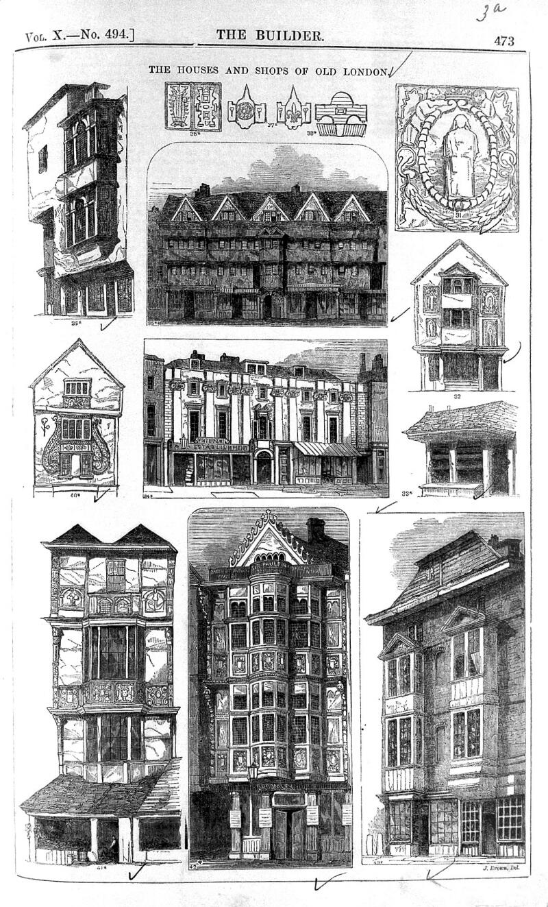 5f24ac3d14b The houses and shops of old London. Old London