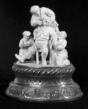 view The Dentist, ivory carving. 18th Century