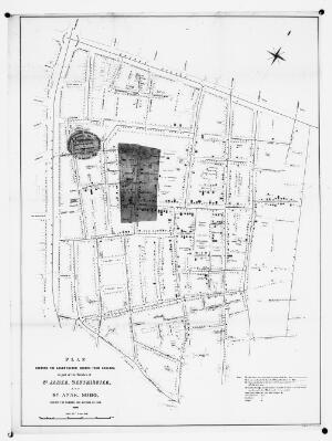 view Plan showing the deaths from cholera, London, 1854