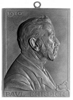 view Portrait of Paul Ehrlich on plaque