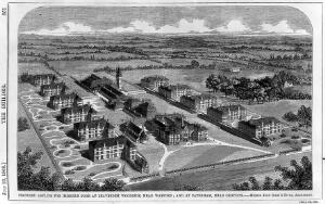 view Proposed asylum for imbecile poor at Caterham, Surrey.