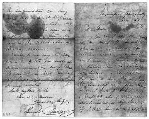 view Manuscript letter from Thomas Dudley to H.H. Hickman, dated 24 Jan. 1847